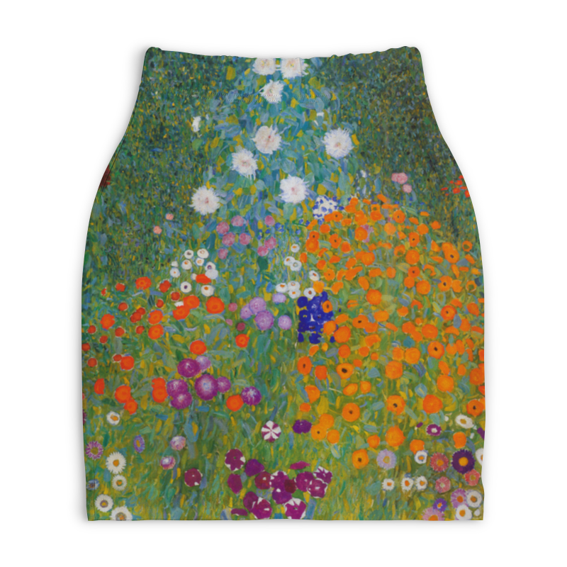 Юбка-карандаш укороченная Printio Цветочный сад (густав климт) юбка карандаш printio райский сад