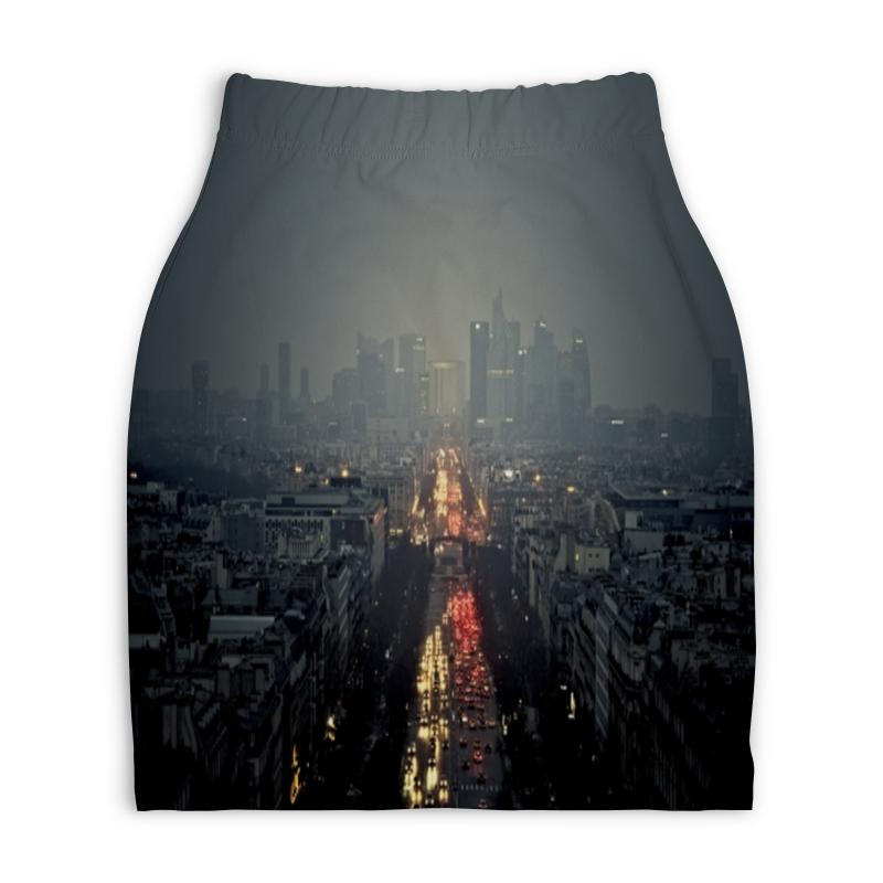 Юбка-карандаш укороченная Printio Ночной город юбка карандаш printio город
