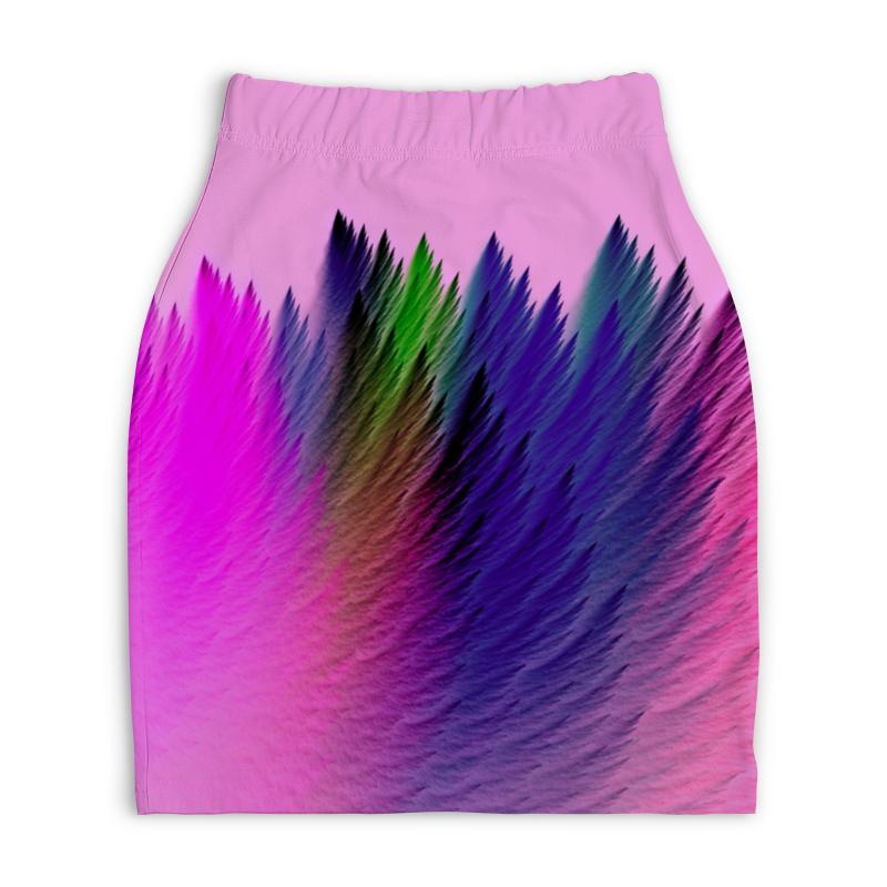 Юбка-карандаш укороченная Printio Взрыв красок юбка карандаш укороченная printio смесь красок