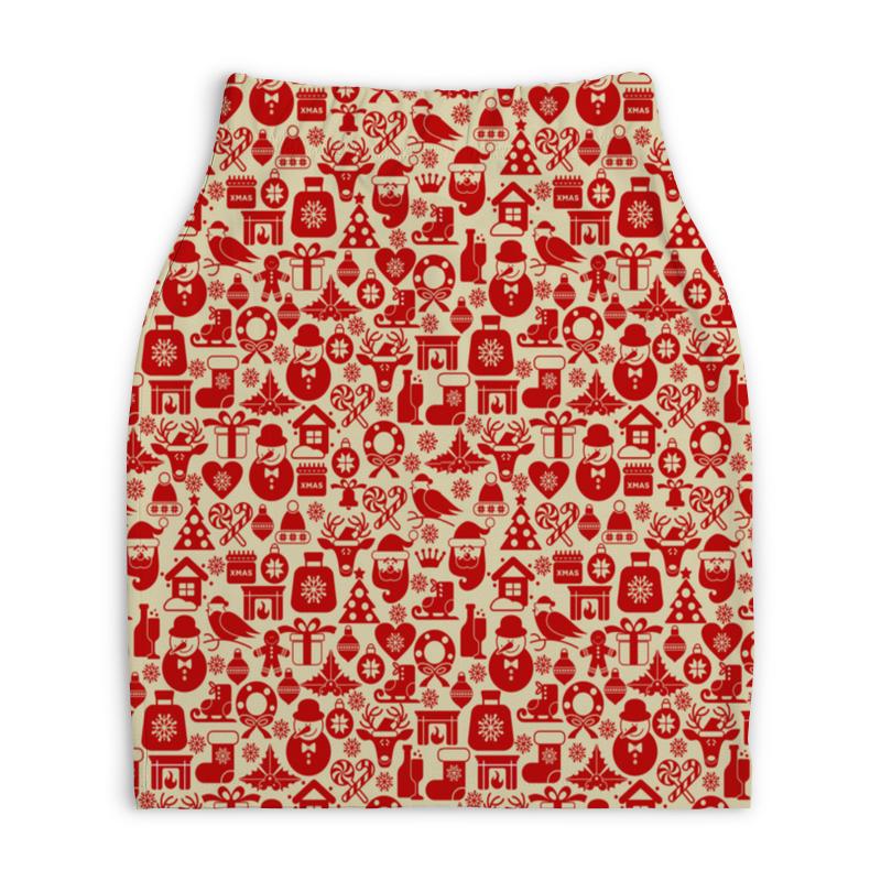 Юбка-карандаш укороченная Printio Праздник юбка карандаш printio химия