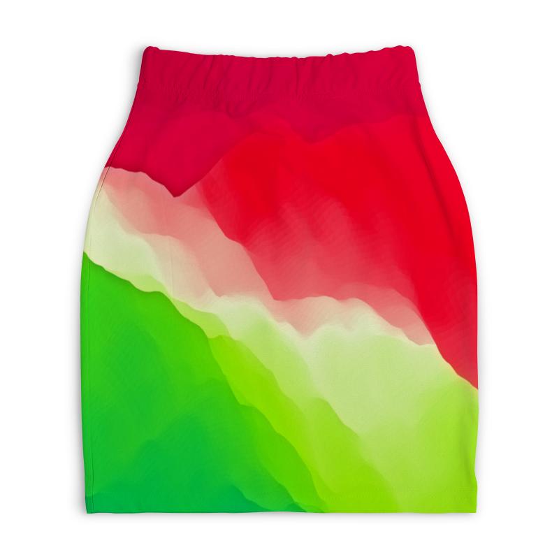 Юбка-карандаш укороченная Printio Переливы цветов printio юбка карандаш укороченная