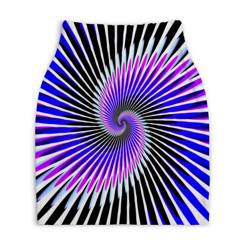 Юбка-карандаш укороченная Printio Абстракция линий юбка карандаш укороченная printio синяя абстракция