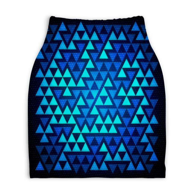 Юбка-карандаш укороченная Printio Треугольники юбка карандаш printio химия