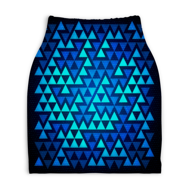 Юбка-карандаш укороченная Printio Треугольники printio юбка карандаш укороченная