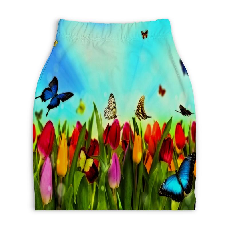 Юбка-карандаш укороченная Printio Весна printio юбка карандаш укороченная