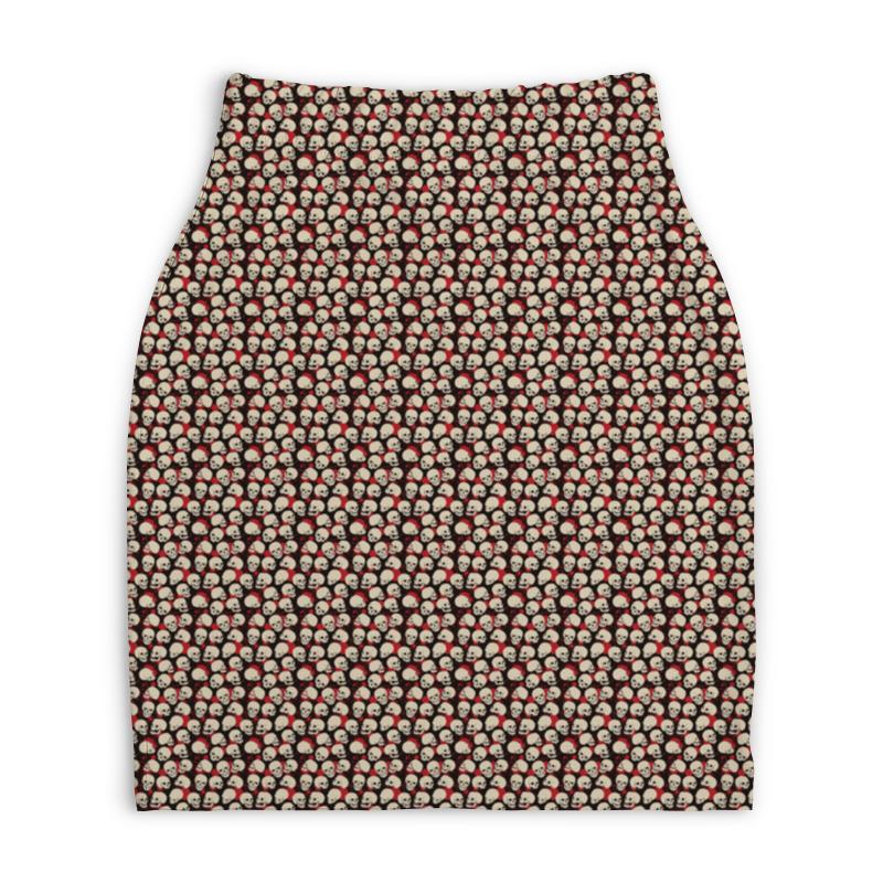 Юбка-карандаш укороченная Printio Черепа юбка карандаш printio химия