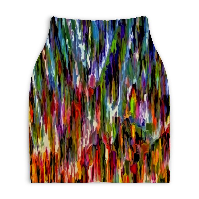 Юбка-карандаш укороченная Printio Всплеск красок юбка карандаш укороченная printio смесь красок