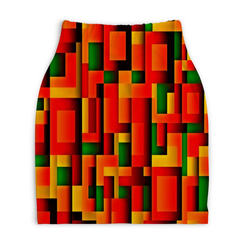 Юбка-карандаш укороченная Printio Орнамент графический юбка карандаш укороченная printio новогодний орнамент