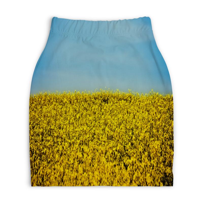 Юбка-карандаш укороченная Printio Полевые цветы printio юбка карандаш укороченная