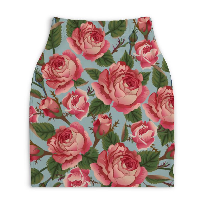 Юбка-карандаш укороченная Printio Розалия юбка карандаш укороченная printio букеты роз