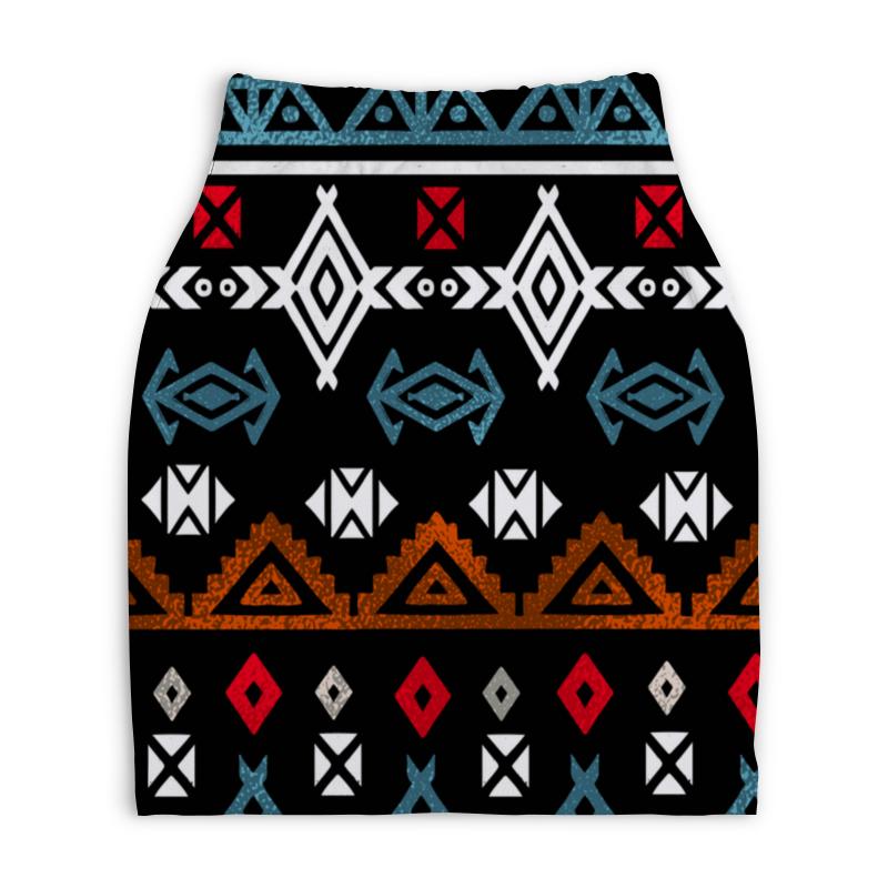 Юбка-карандаш укороченная Printio Графический орнамент юбка карандаш укороченная printio новогодний орнамент