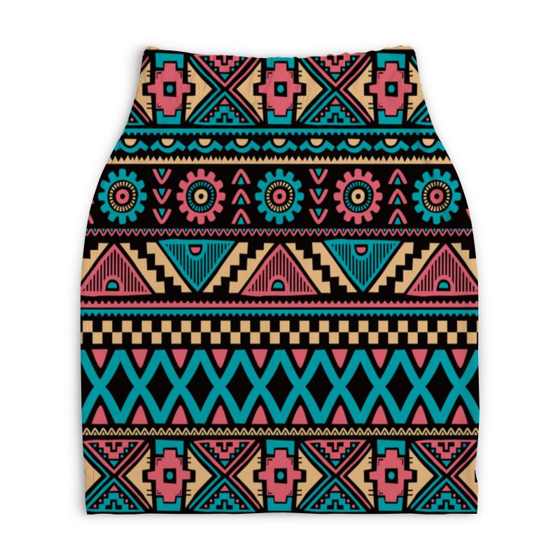 Юбка-карандаш укороченная Printio Красочный орнамент юбка карандаш укороченная printio новогодний орнамент