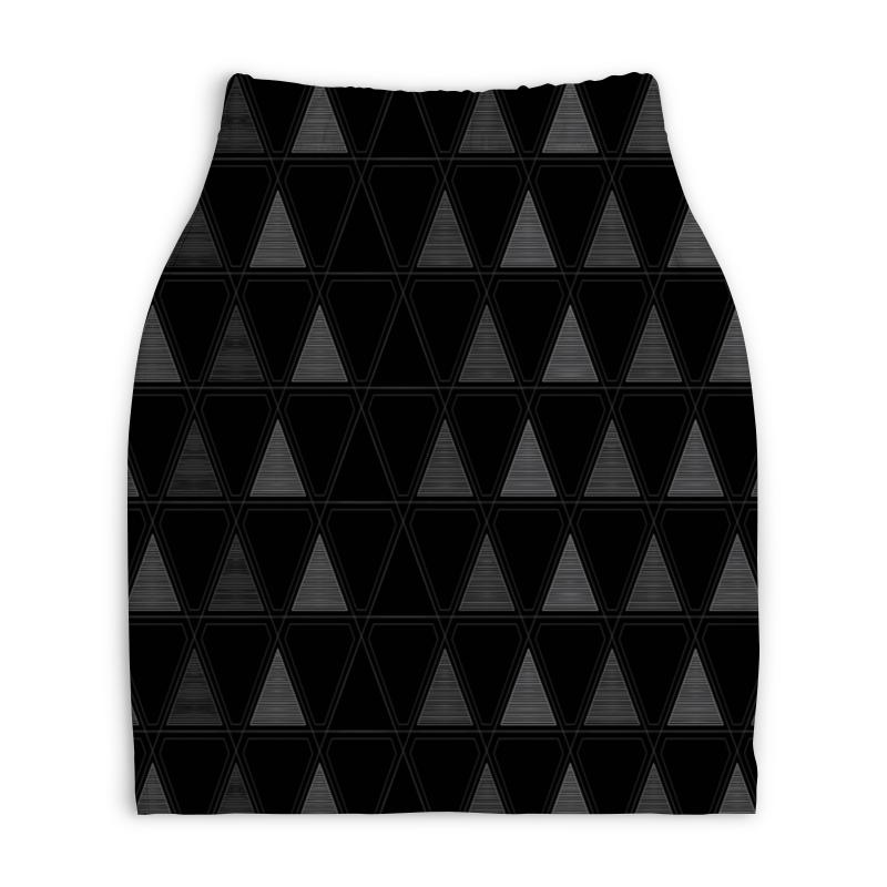 Юбка-карандаш укороченная Printio Треугольник юбка карандаш укороченная printio букеты роз