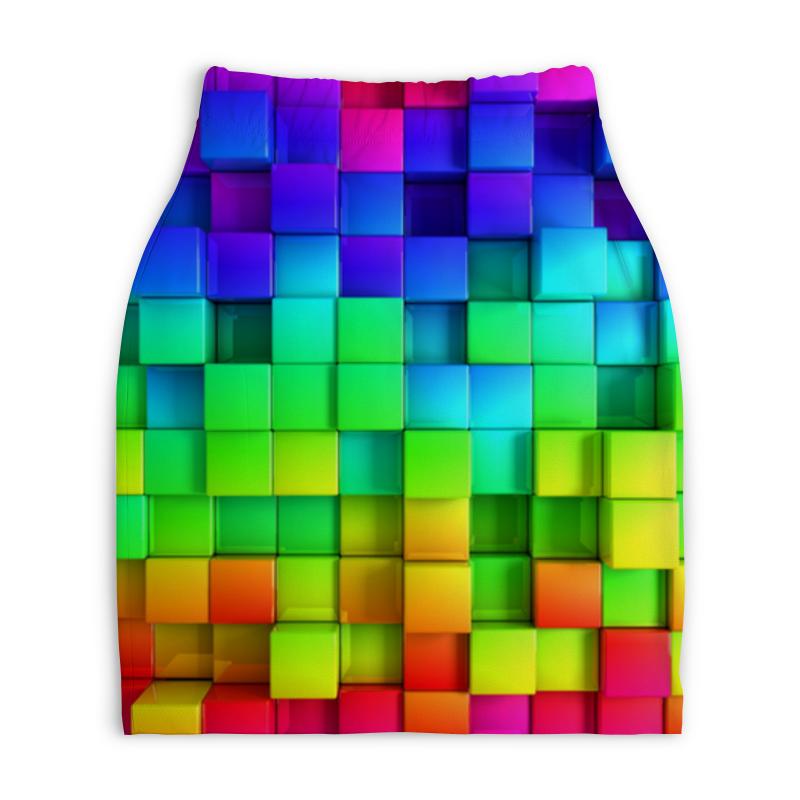 Юбка-карандаш укороченная Printio Colorful юбка карандаш printio химия