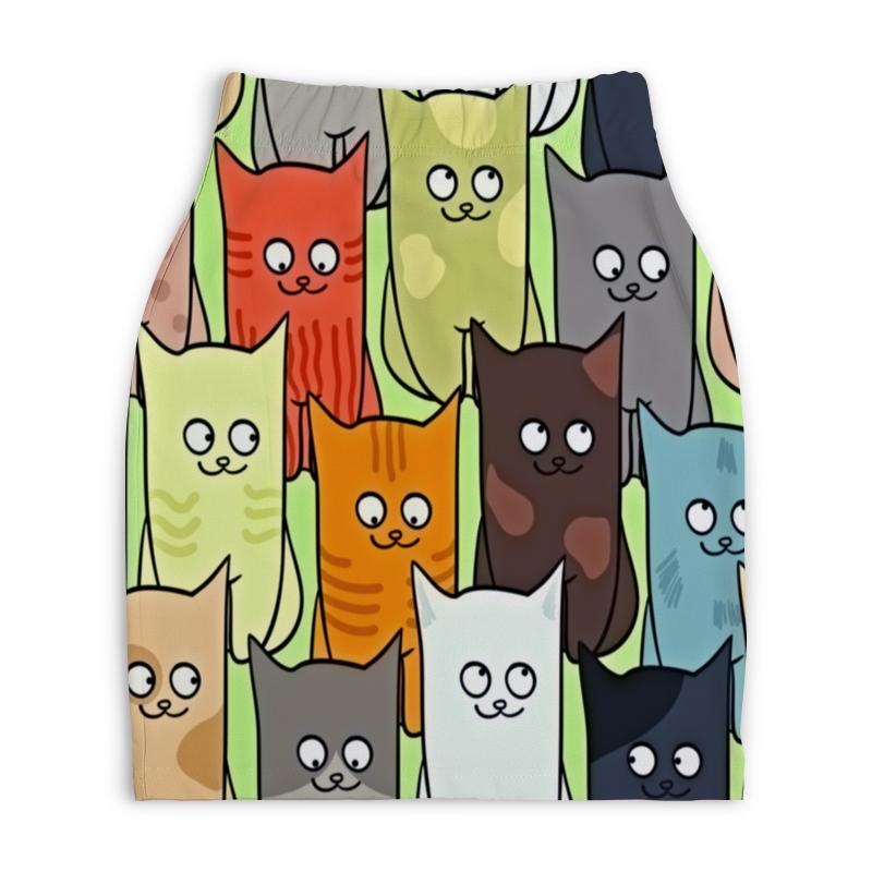 Юбка-карандаш укороченная Printio Котята полуперсидские котята в москве