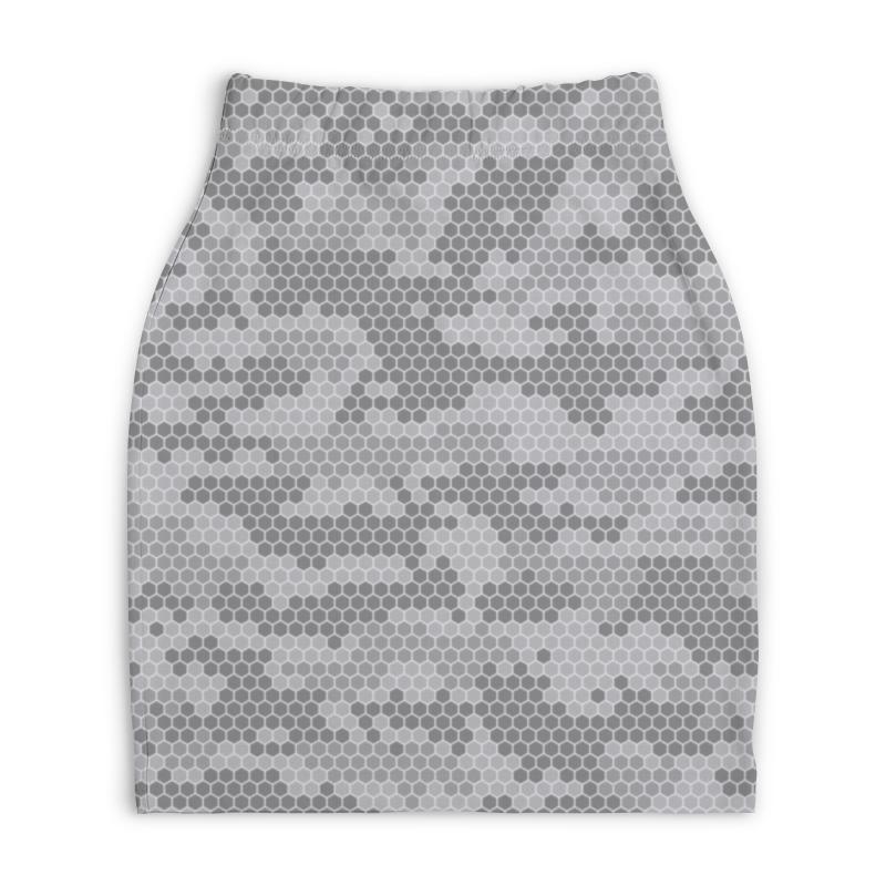 Юбка-карандаш укороченная Printio Камуфляж юбка карандаш printio камуфляж