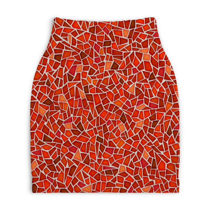 Юбка-карандаш укороченная Printio Мозаика юбка карандаш укороченная printio букеты роз