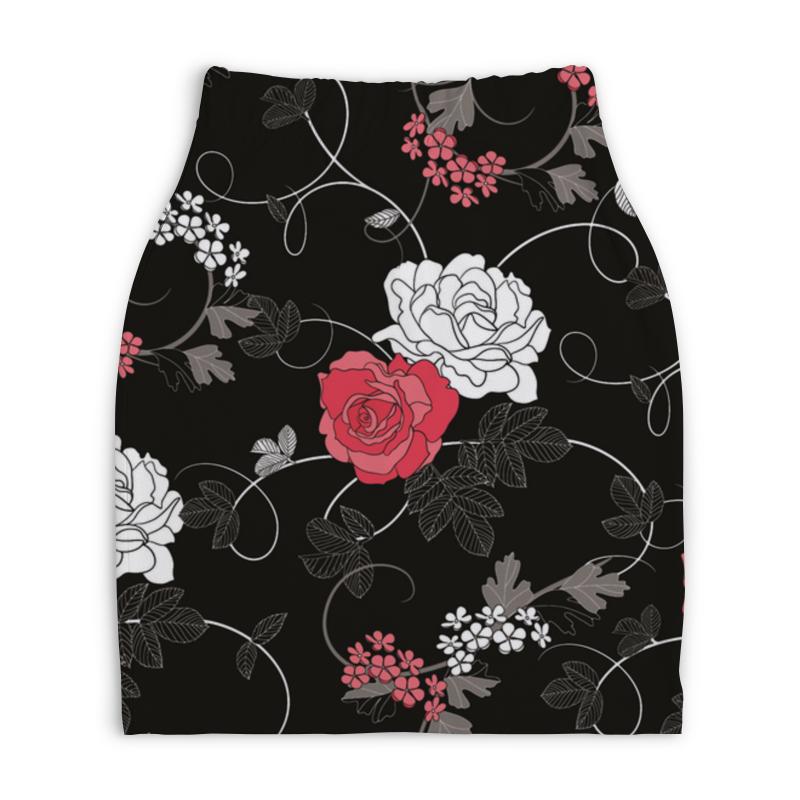 Юбка-карандаш укороченная Printio Красная и белая розы постников валентин юрьевич карандаш и самоделкин