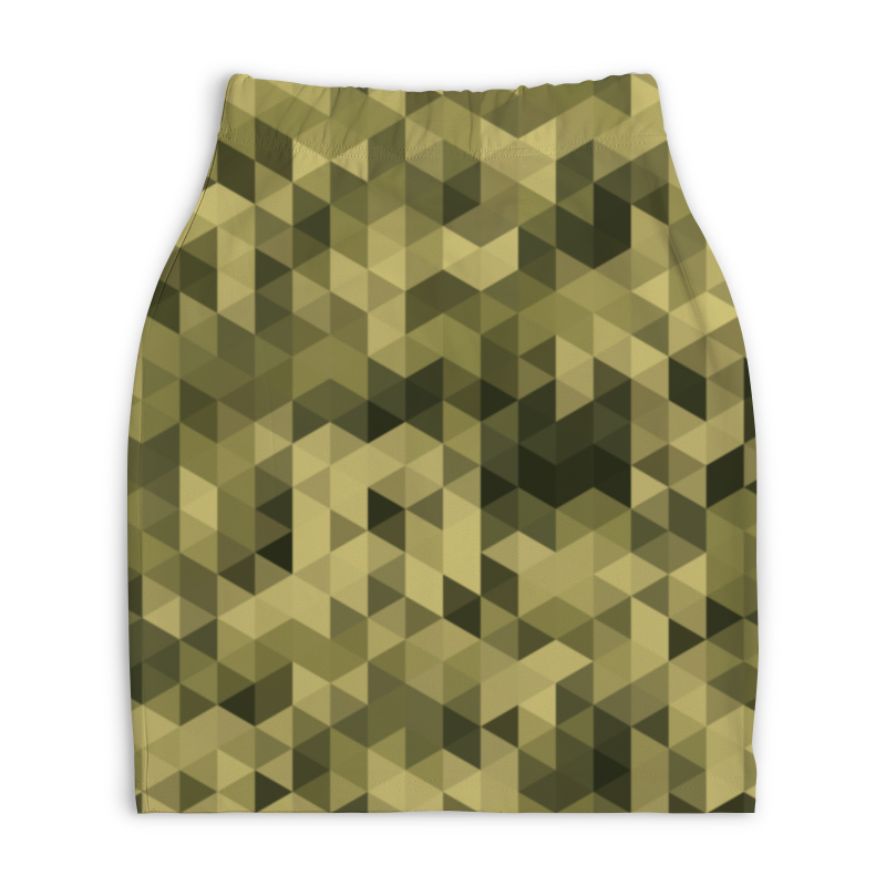 Юбка-карандаш укороченная Printio Камуфляж printio юбка карандаш укороченная