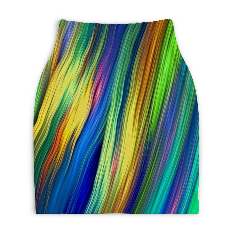 Юбка-карандаш укороченная Printio Радужные линии printio юбка карандаш укороченная