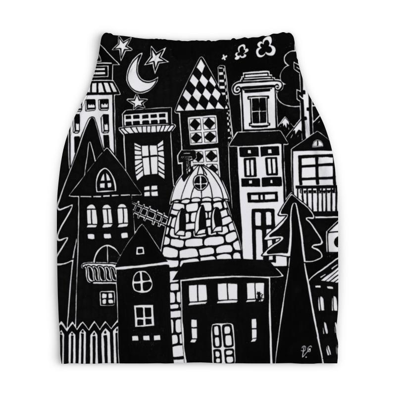 Юбка-карандаш укороченная Printio Город вместе с тобой юбка карандаш printio город