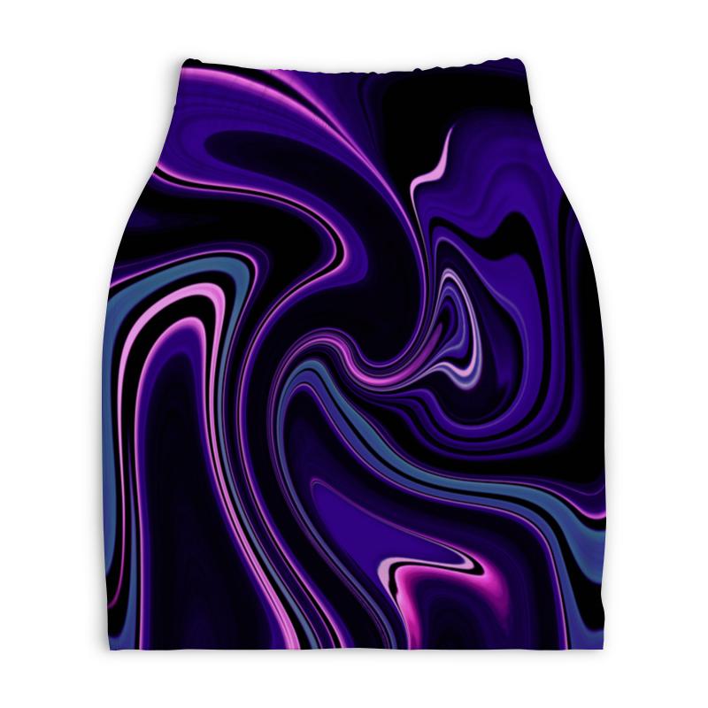Юбка-карандаш укороченная Printio Черно-синие краски юбка карандаш укороченная printio черно белый орнамент
