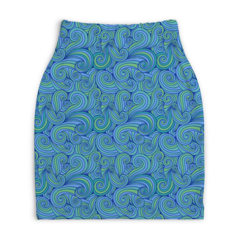 Юбка-карандаш укороченная Printio Абстрактные волны юбка карандаш printio цветные волны
