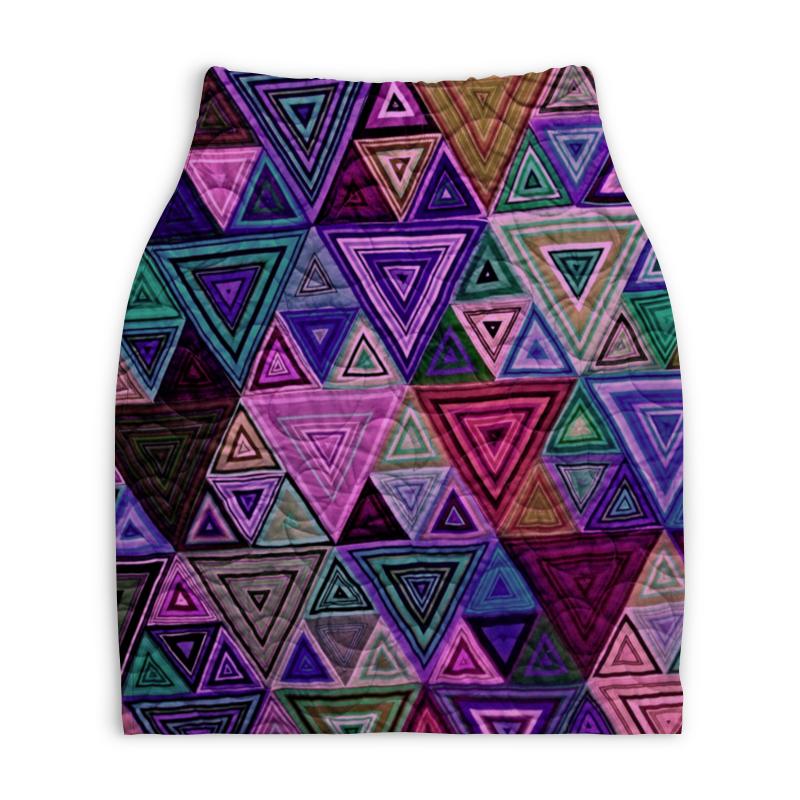 Юбка-карандаш укороченная Printio Треугольный юбка карандаш укороченная printio ван гог