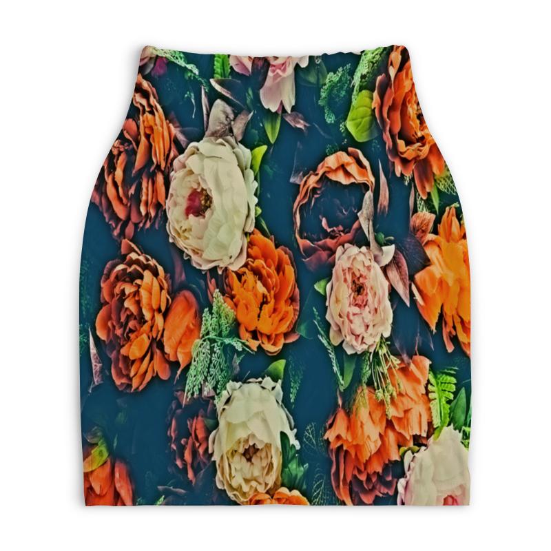Юбка-карандаш укороченная Printio Flowers юбка женская camo flowers