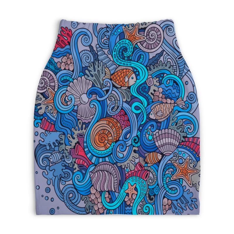 Юбка-карандаш укороченная Printio Морской юбка карандаш укороченная printio букеты роз