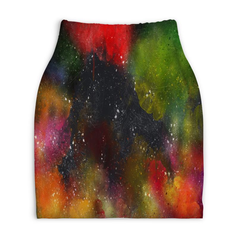 Юбка-карандаш укороченная Printio Палитра красок юбка карандаш укороченная printio смесь красок