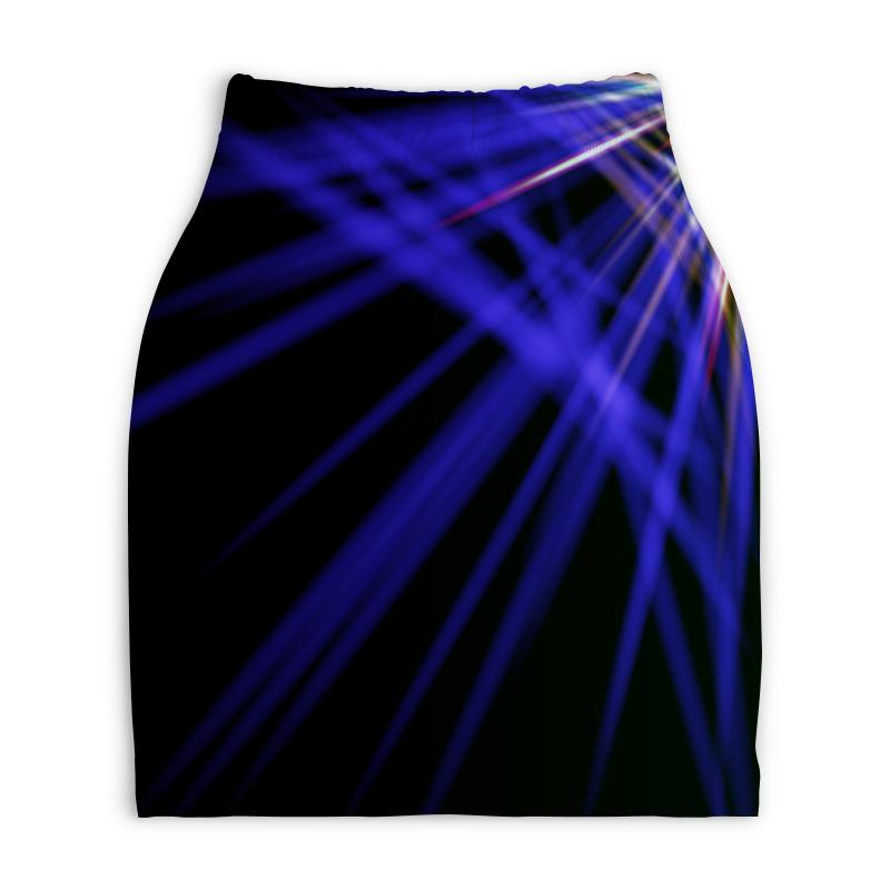 Юбка-карандаш укороченная Printio Лучи красок юбка карандаш укороченная printio смесь красок