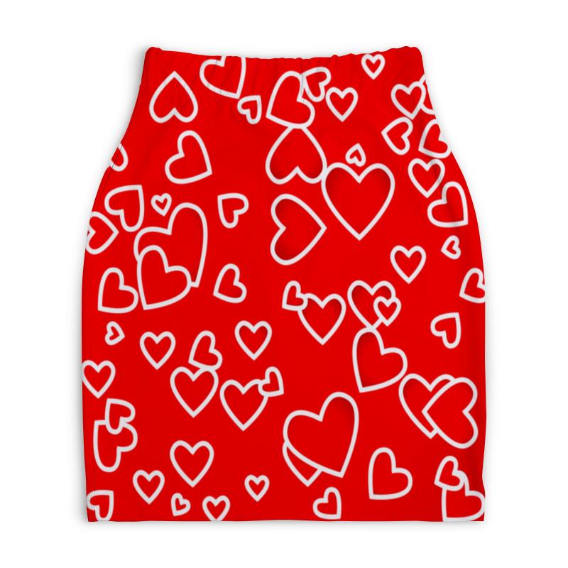 Юбка-карандаш укороченная Printio Сердце printio юбка карандаш укороченная
