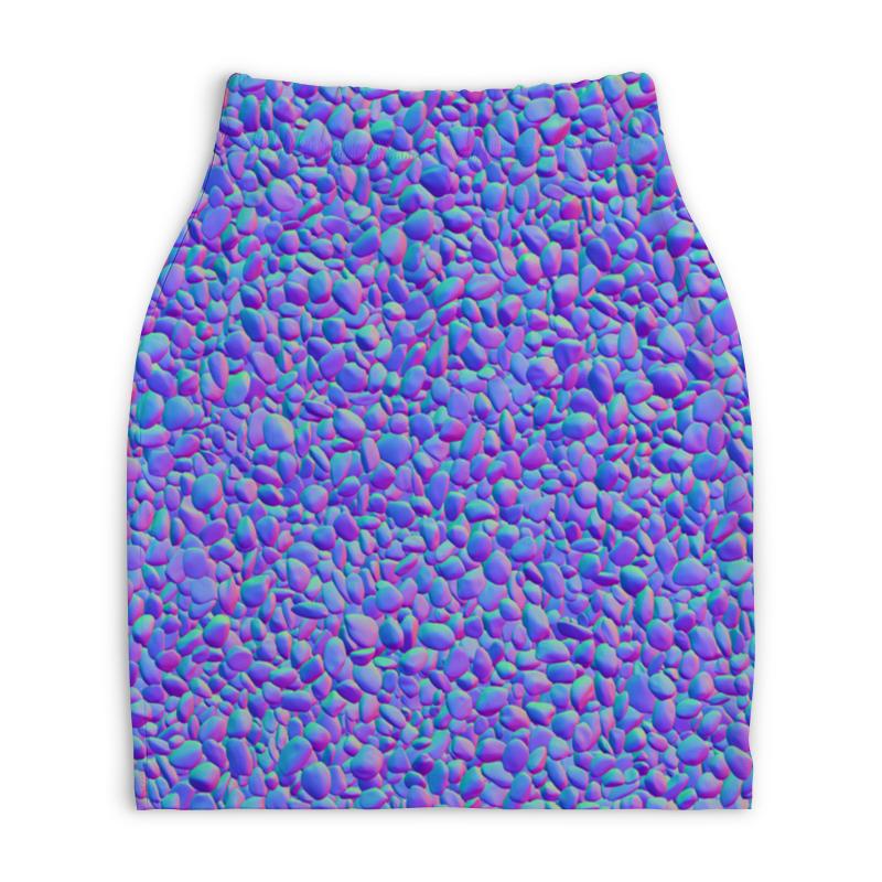 Юбка-карандаш укороченная Printio Цветные камни юбка карандаш printio цветные волны