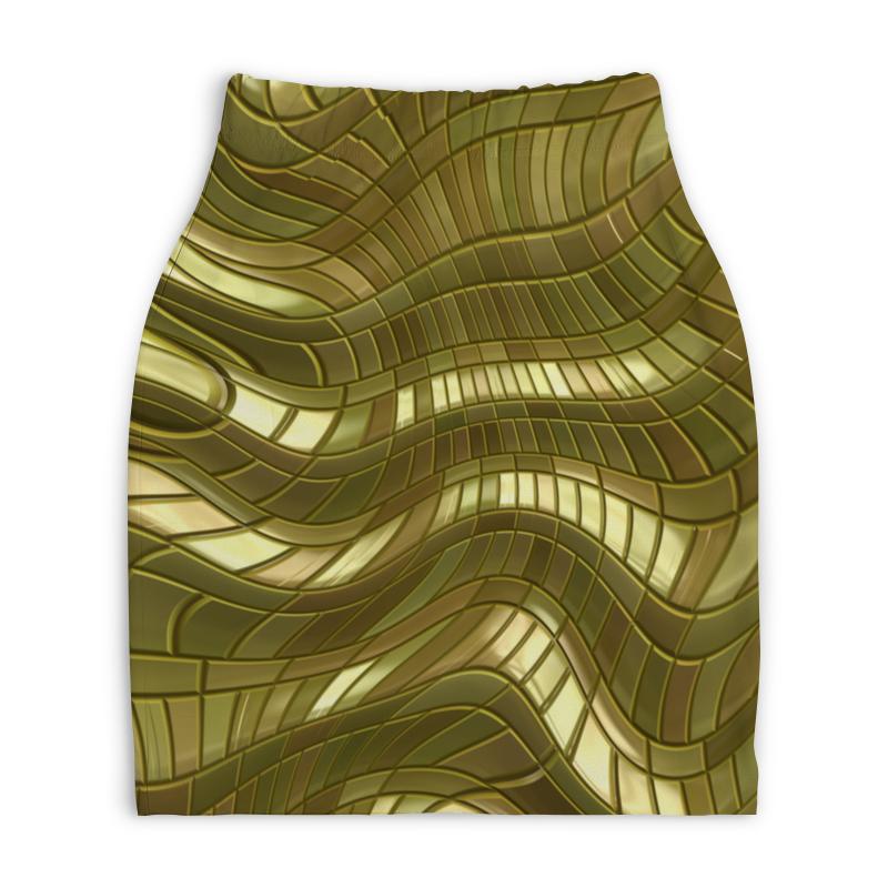 Юбка-карандаш укороченная Printio Золотые полосы