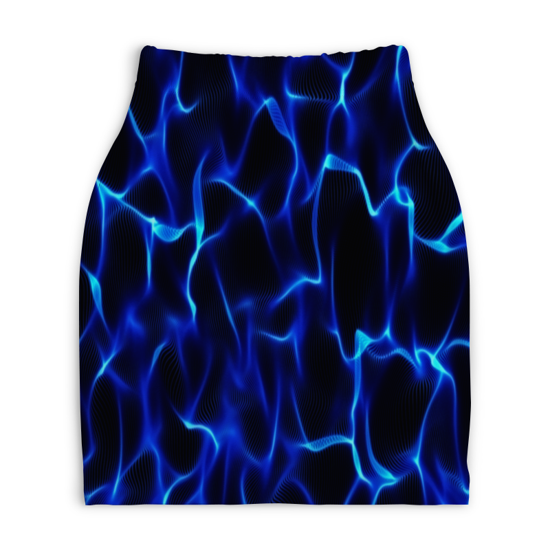 Юбка-карандаш укороченная Printio Синие волны юбка карандаш укороченная printio синие полосы