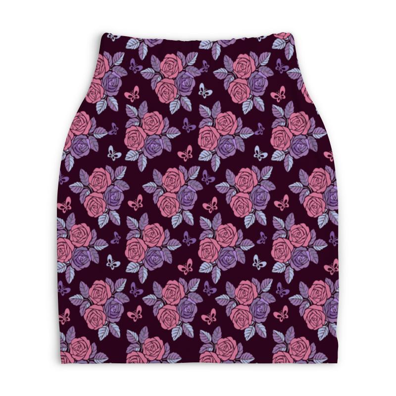 Юбка-карандаш укороченная Printio Букеты роз юбка карандаш укороченная printio букеты роз
