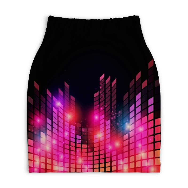 Юбка-карандаш укороченная Printio Цветомузыка юбка карандаш printio химия