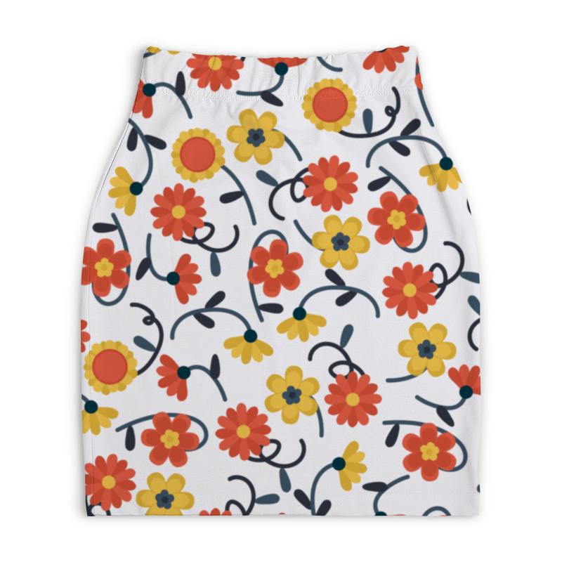 Юбка-карандаш укороченная Printio Цветочная юбка карандаш printio цветочная сказка