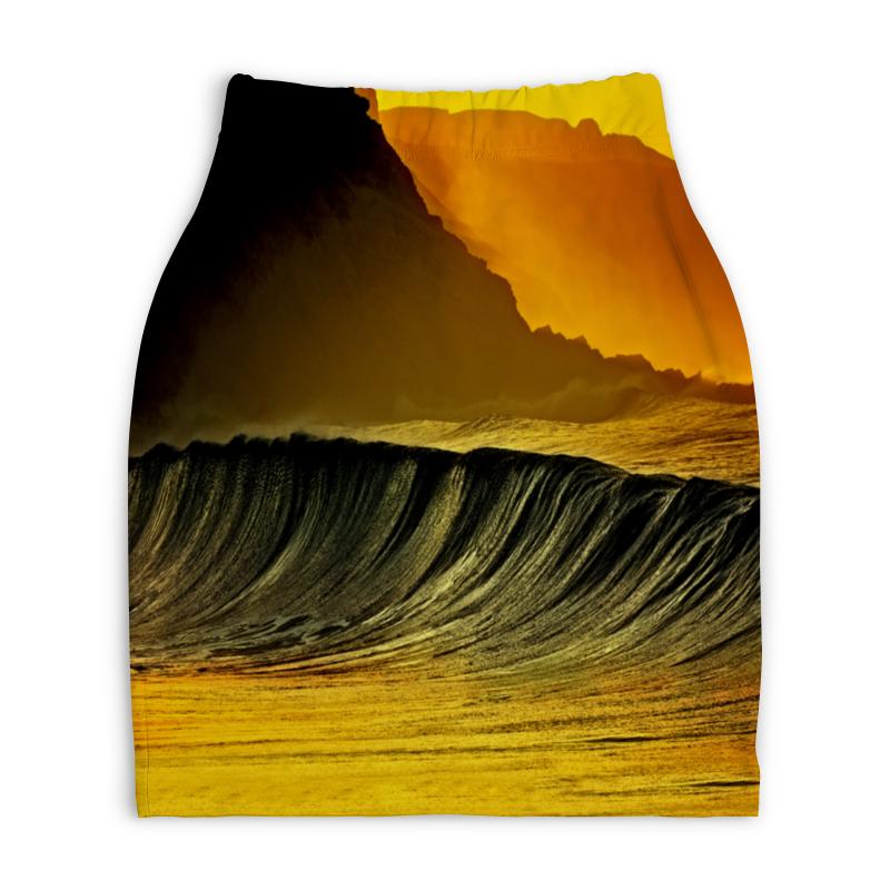 Юбка-карандаш укороченная Printio Волны моря юбка карандаш printio цветные волны