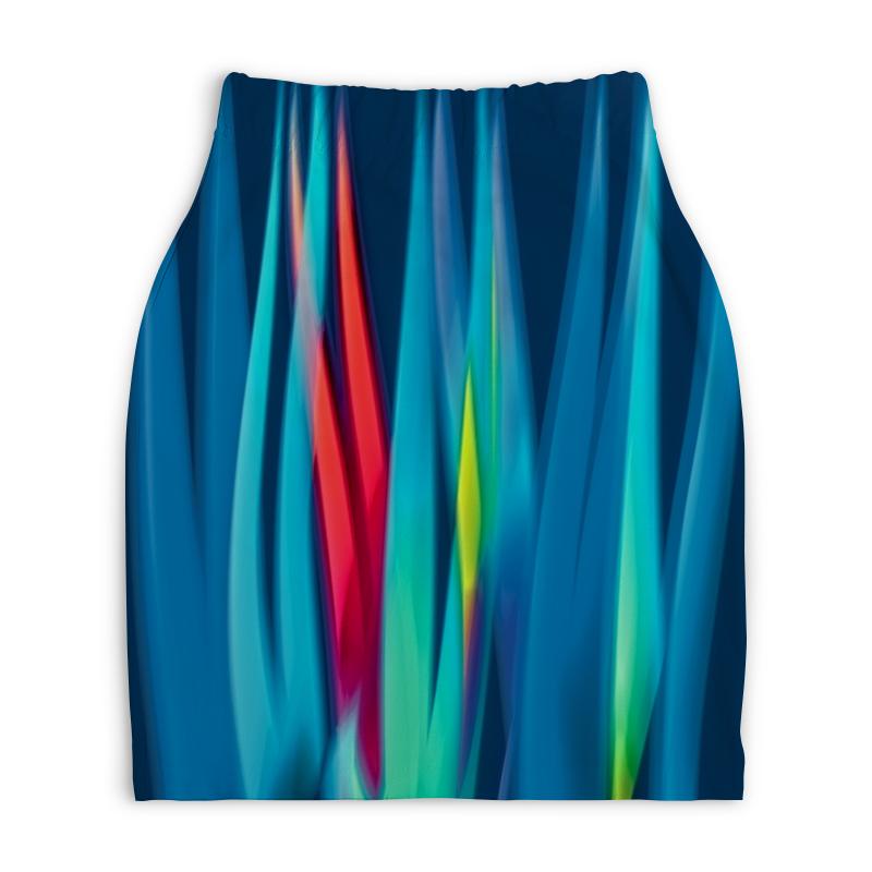 Юбка-карандаш укороченная Printio Синие линии юбка карандаш укороченная printio синие полосы
