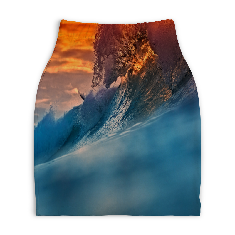 Юбка-карандаш укороченная Printio Всплеск волны printio юбка карандаш укороченная