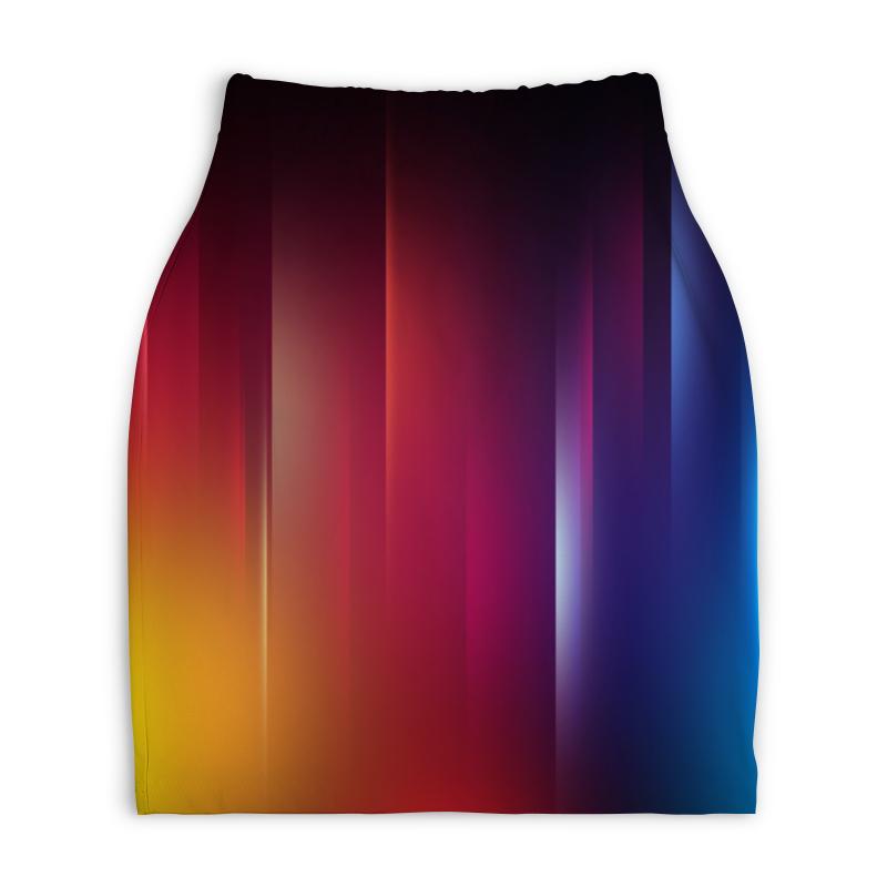 Юбка-карандаш укороченная Printio Переход цвета переход