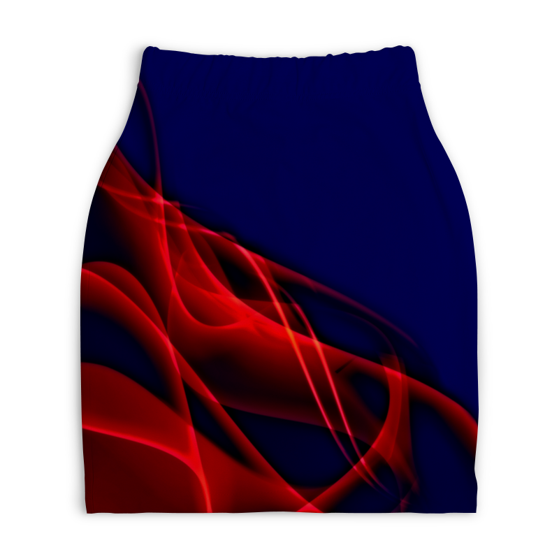 Юбка-карандаш укороченная Printio Краски printio юбка карандаш укороченная