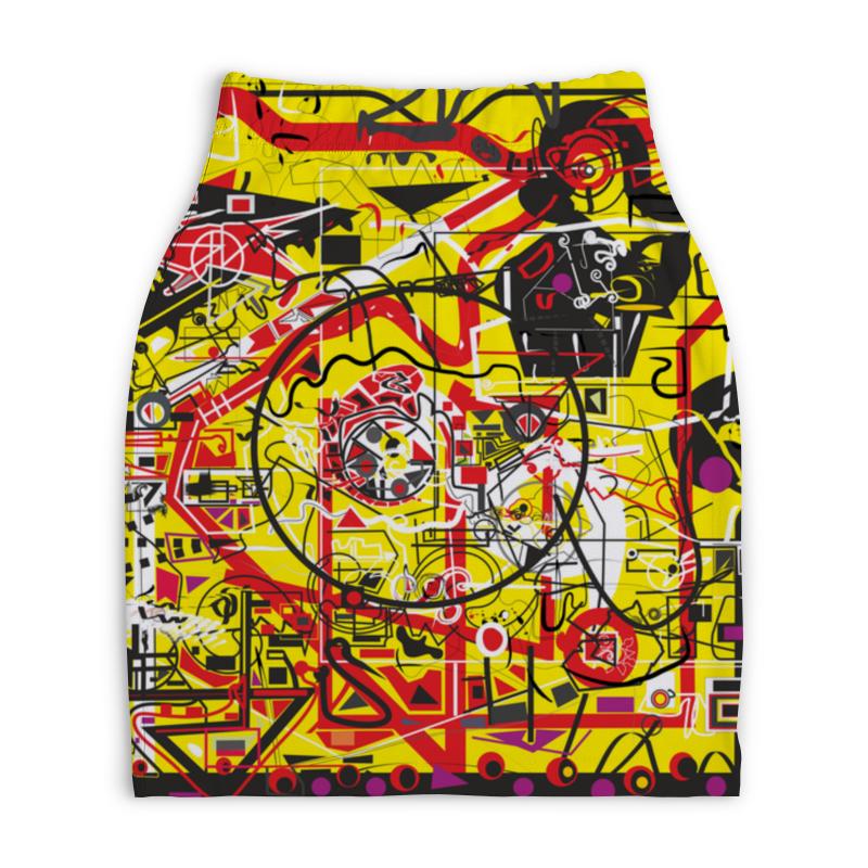 Юбка-карандаш укороченная Printio Паутинка юбка карандаш укороченная printio золотой шелк