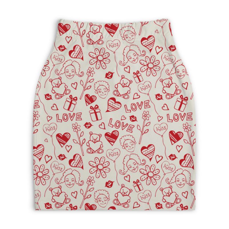 Юбка-карандаш укороченная Printio Мечты о любви платье летнее printio мечты о любви