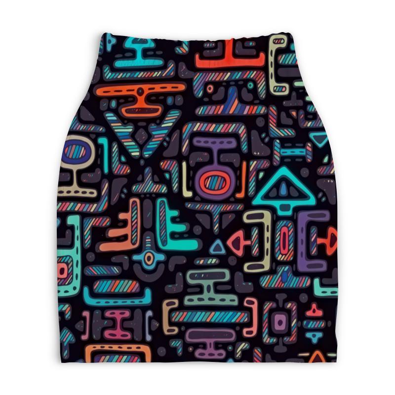 Юбка-карандаш укороченная Printio Символы printio юбка карандаш укороченная