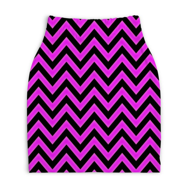 Юбка-карандаш укороченная Printio Волны юбка карандаш укороченная printio букеты роз