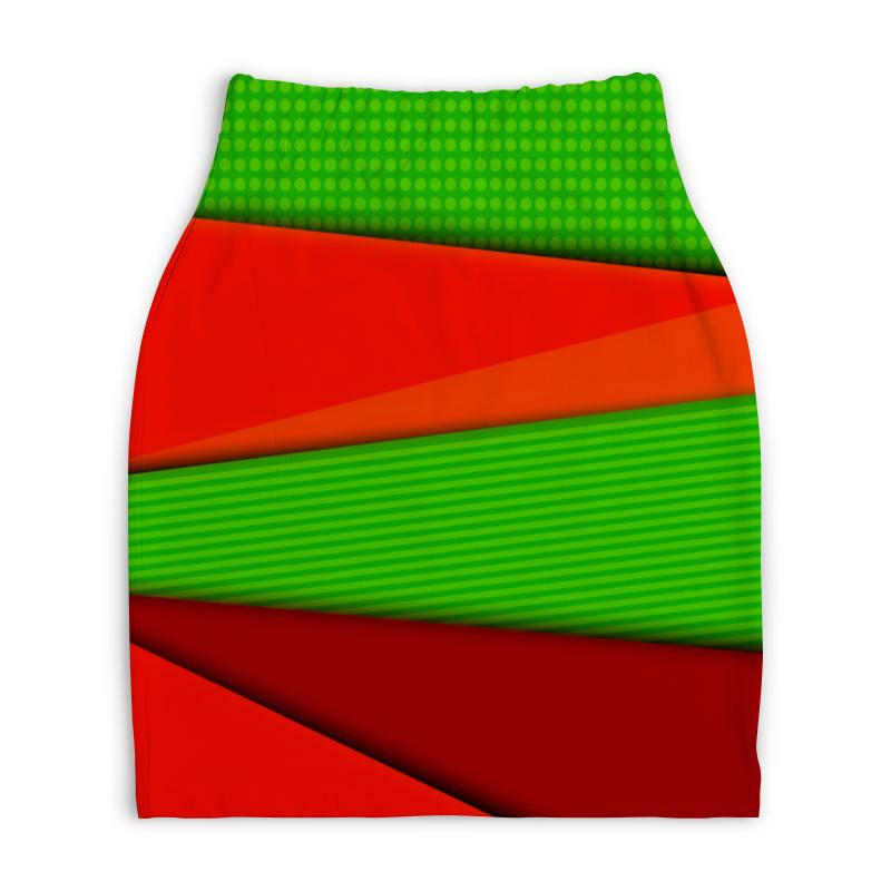 Юбка-карандаш укороченная Printio Цветные полосы юбка карандаш printio цветные полосы