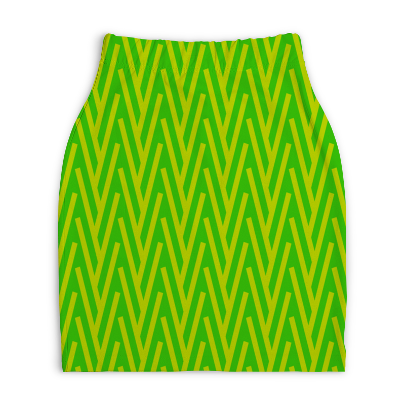 Юбка-карандаш укороченная Printio Желто-зеленый узор жучок zhorya желто зеленый